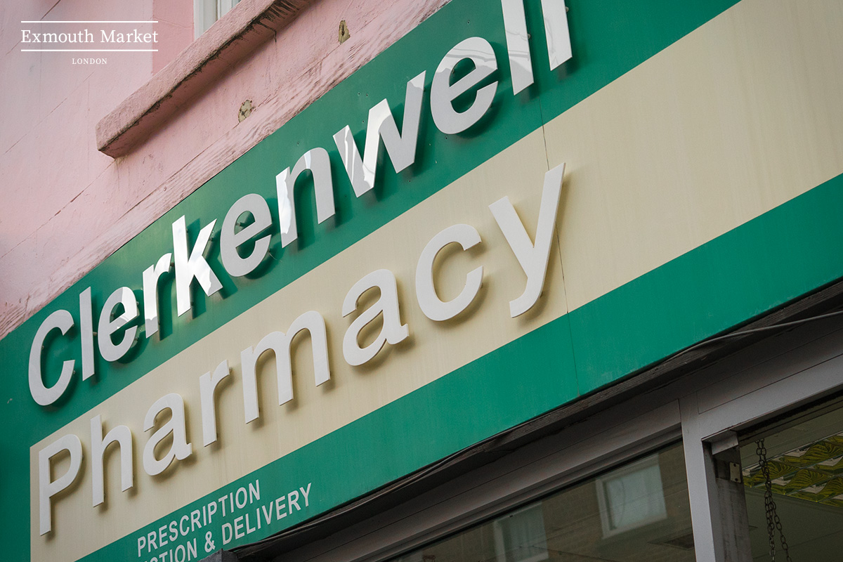 Clerkenwell Pharmacy, 51 Exmouth Market, London EC1R 4QL